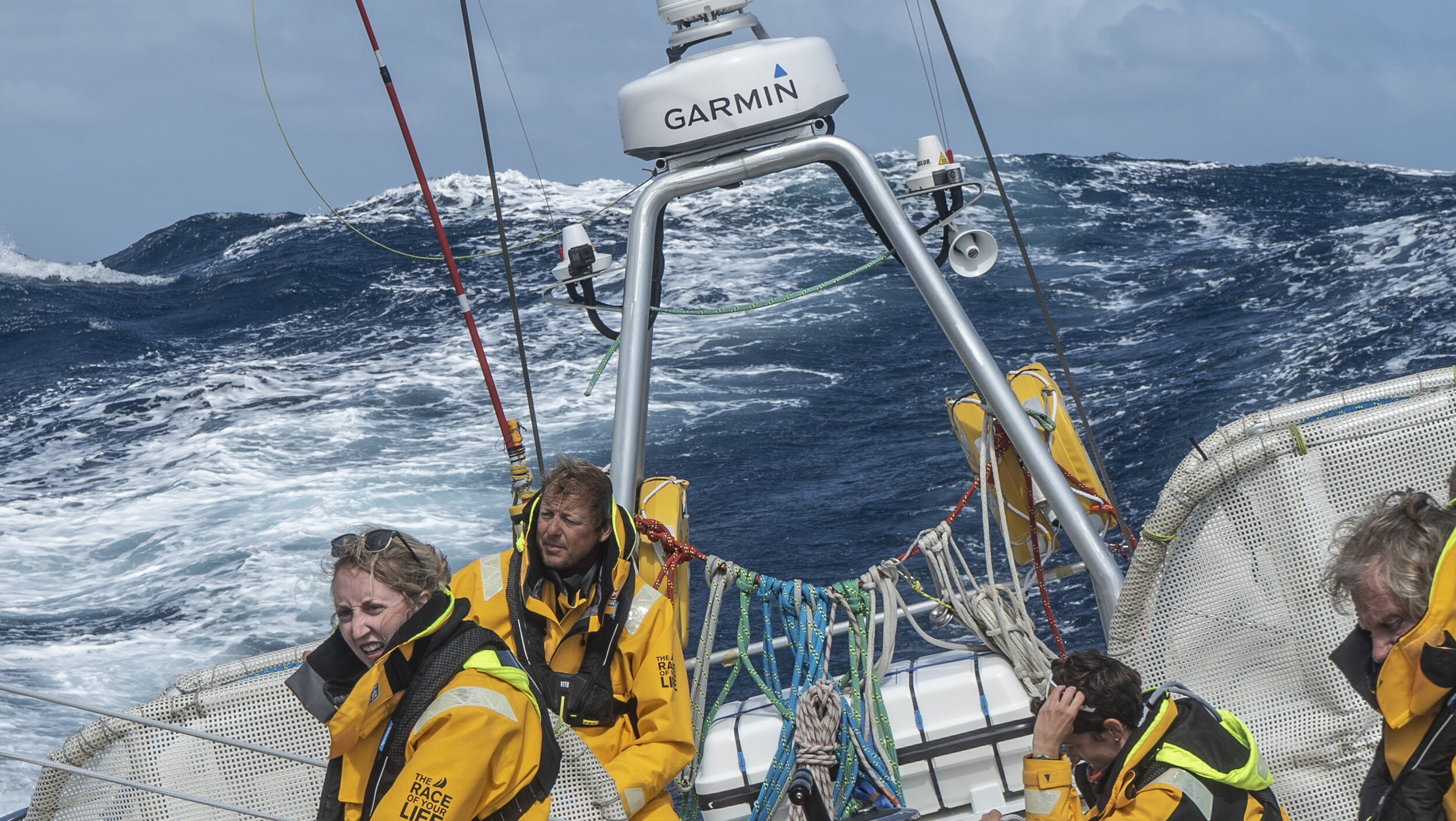 IMAGE: Big conditions captured by Cherie during Unicef's Bay of Biscay crossing.