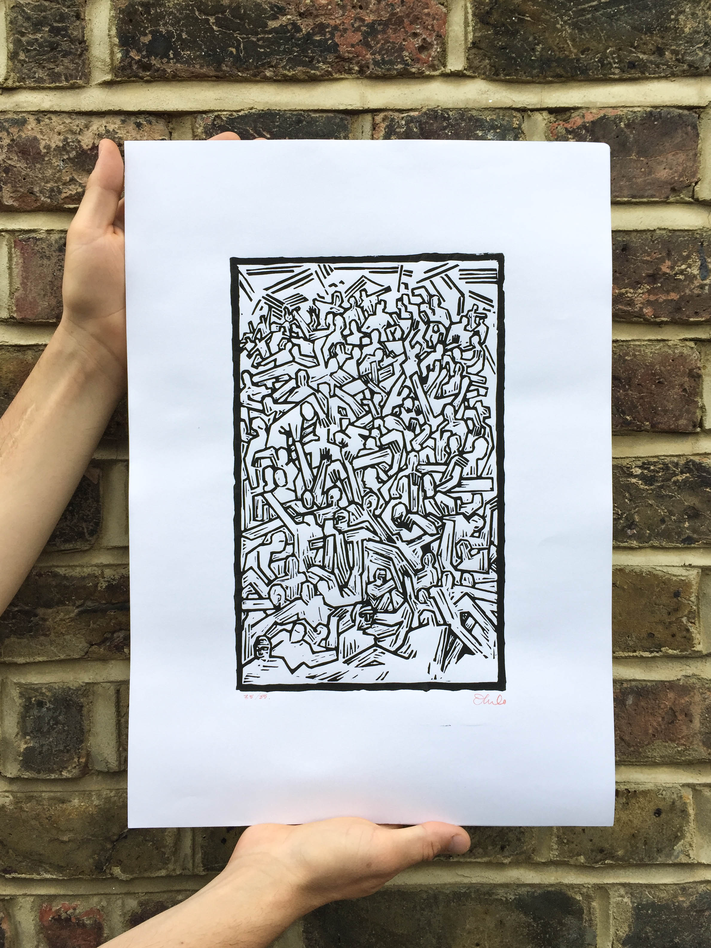 IDLESLIMITED EDITION LINO PRINT - CLICK HERE TO ORDER