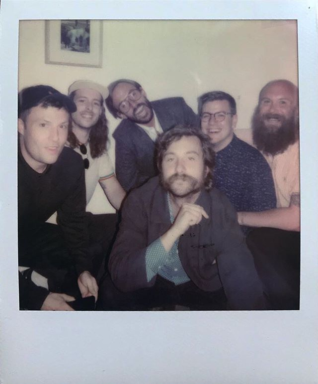 Congratulations @idlesband @mother_artist_management @partisanrecords ... Joy as an Act of Resistance is 1 year old .... huge year  and a wonderful record , the success of which is mainly due to the collage I made for the deluxe version of the vinyl ... mainly ... x  love this photo by @lindsaymelbourne_  from the album launch / exhibition