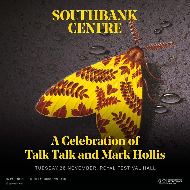 Huge honour to be asked to join this great line up of singers and musicians to celebrate the genius of Mark Hollis and Talk Talk. An artist that had sach a huge influence on me and the music I make. Unfortunately the show is sold out, but for those of you lucky enough to get some tickets - I look forward to seeing you on the night.