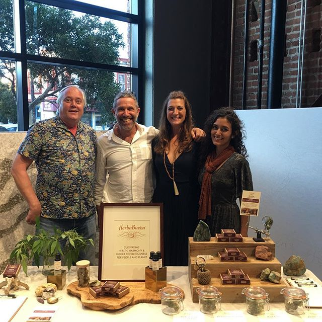 "The #herbabuena team re-launching our eco-awesome products at the #LuxSF's ""Munchie Madness"" Cannabis Soiree. Available throughout California at dispensaries and via home delivery services: www.herbabuena.com"