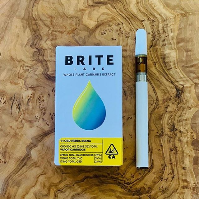 Our first extraction collaboration with the artists at Brite Labs! Made from a a single batch of our certified Biodynamic, whole flower 1:1 CBD, it's smooth, grounding and delicious. A sweet, mild high that's perfect any time of day. 34% CBD, 34%THC. 🌿 LIMITED EDITION 🌿 There are only 100 of these cartridges to share with the world (and we've already spoken for 20 to showcase for our summer event series.) On sale starting Friday, June 28th for California statewide delivery at herbabuena.com 🙏