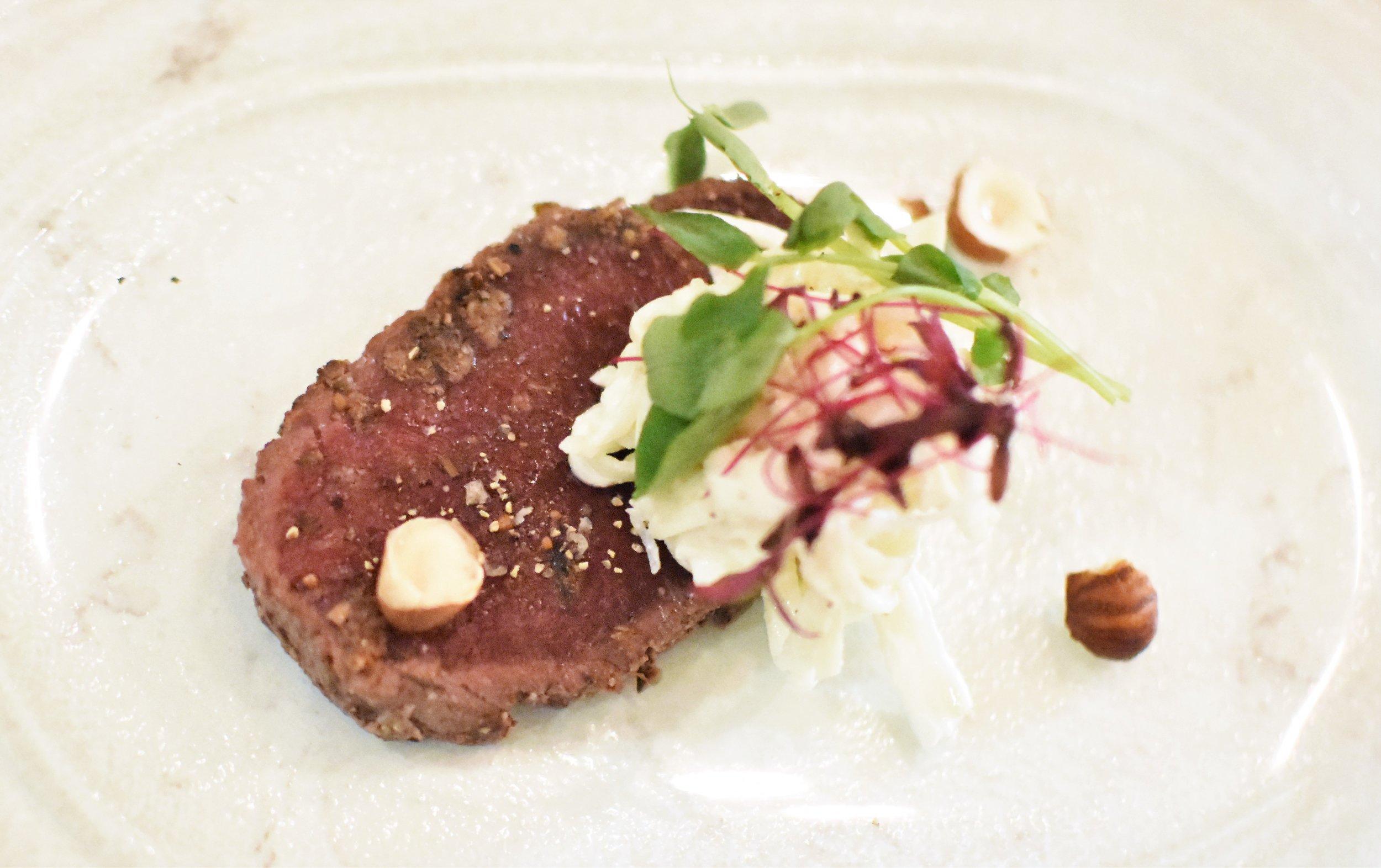 Beef fillet carpacio