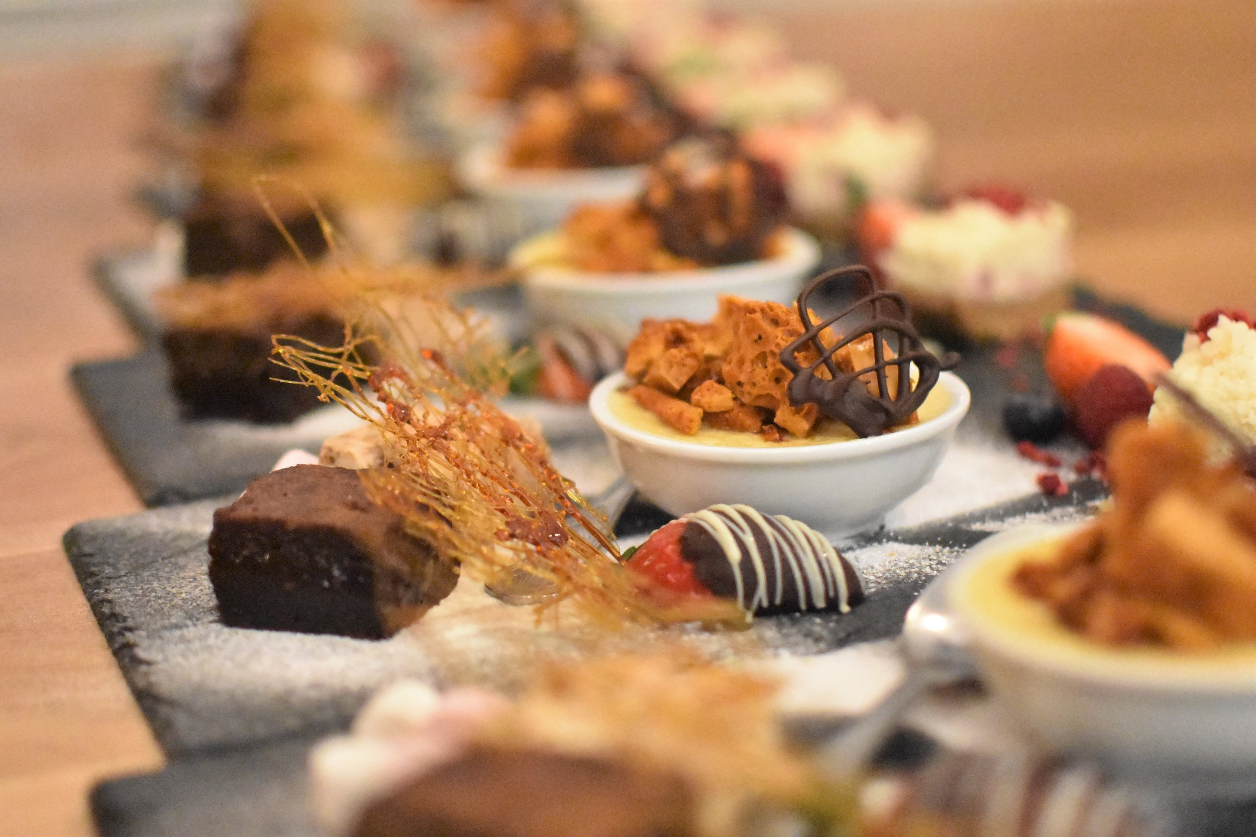 Trio of chefgary desserts