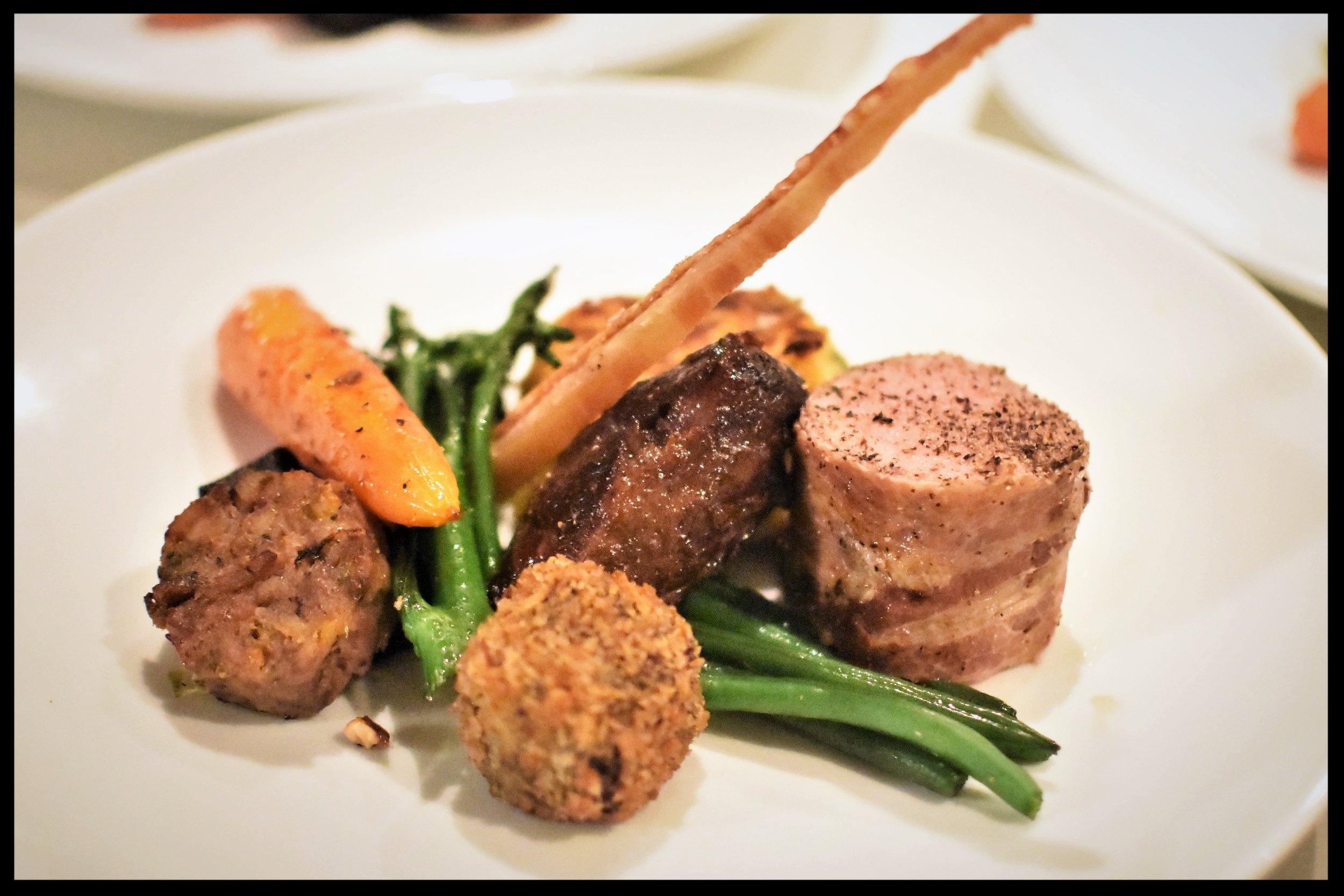 Assiette of Hampshire pork