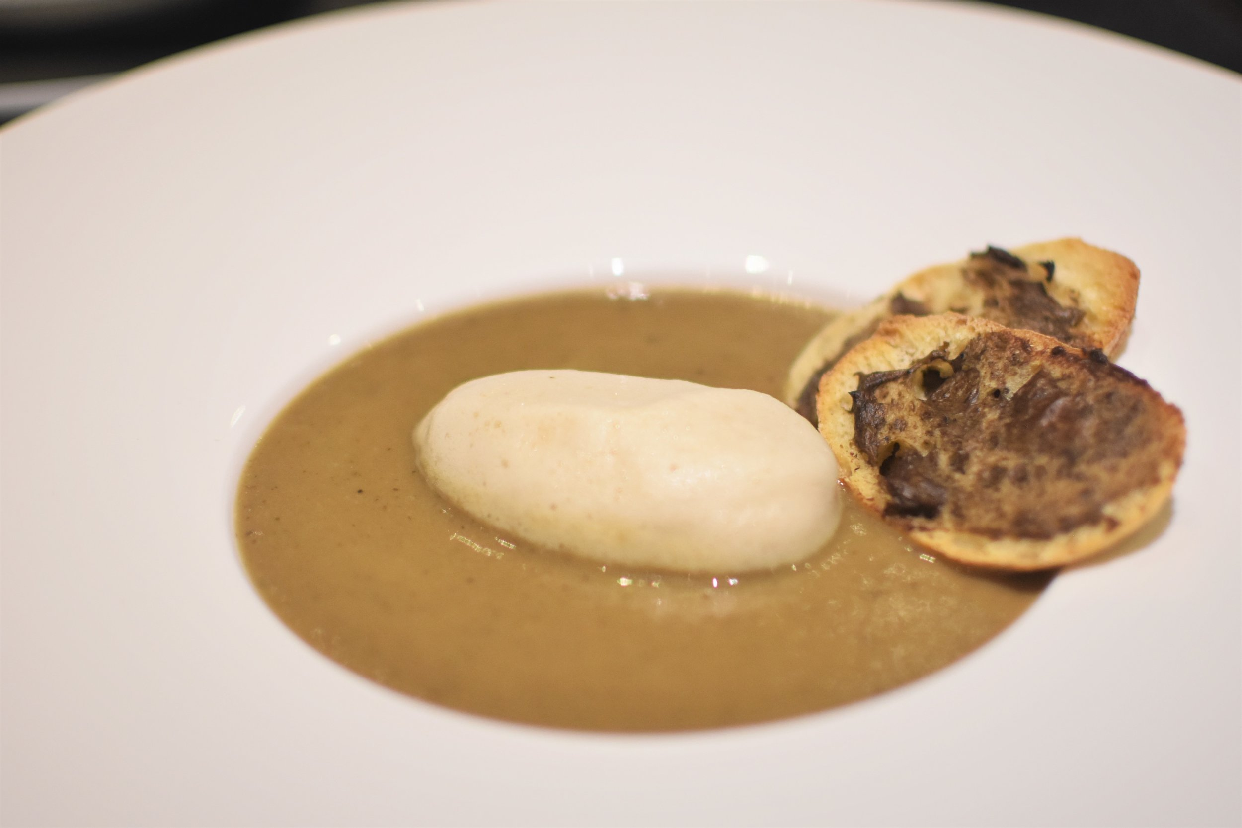 Wild mushroom and truffle soup