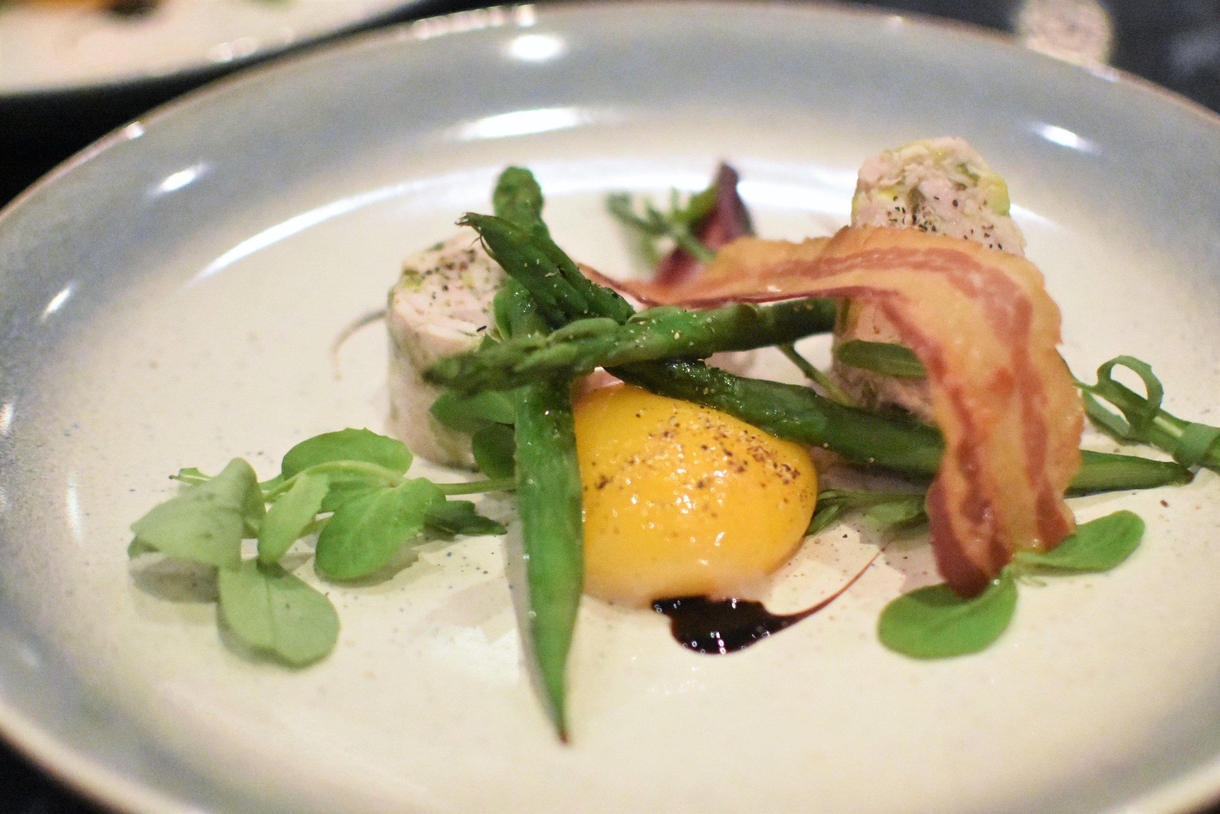 Chicken terrine - confit egg yolk