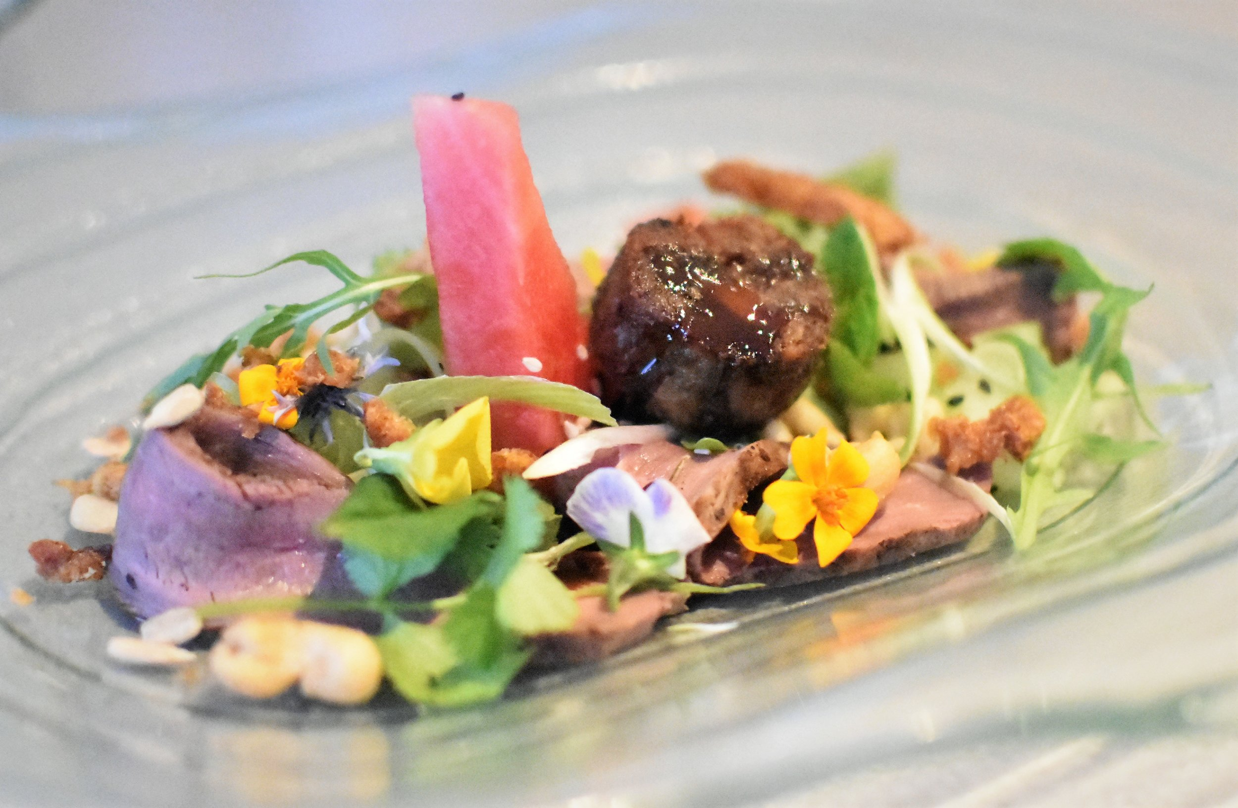 Asian inspired duck salad