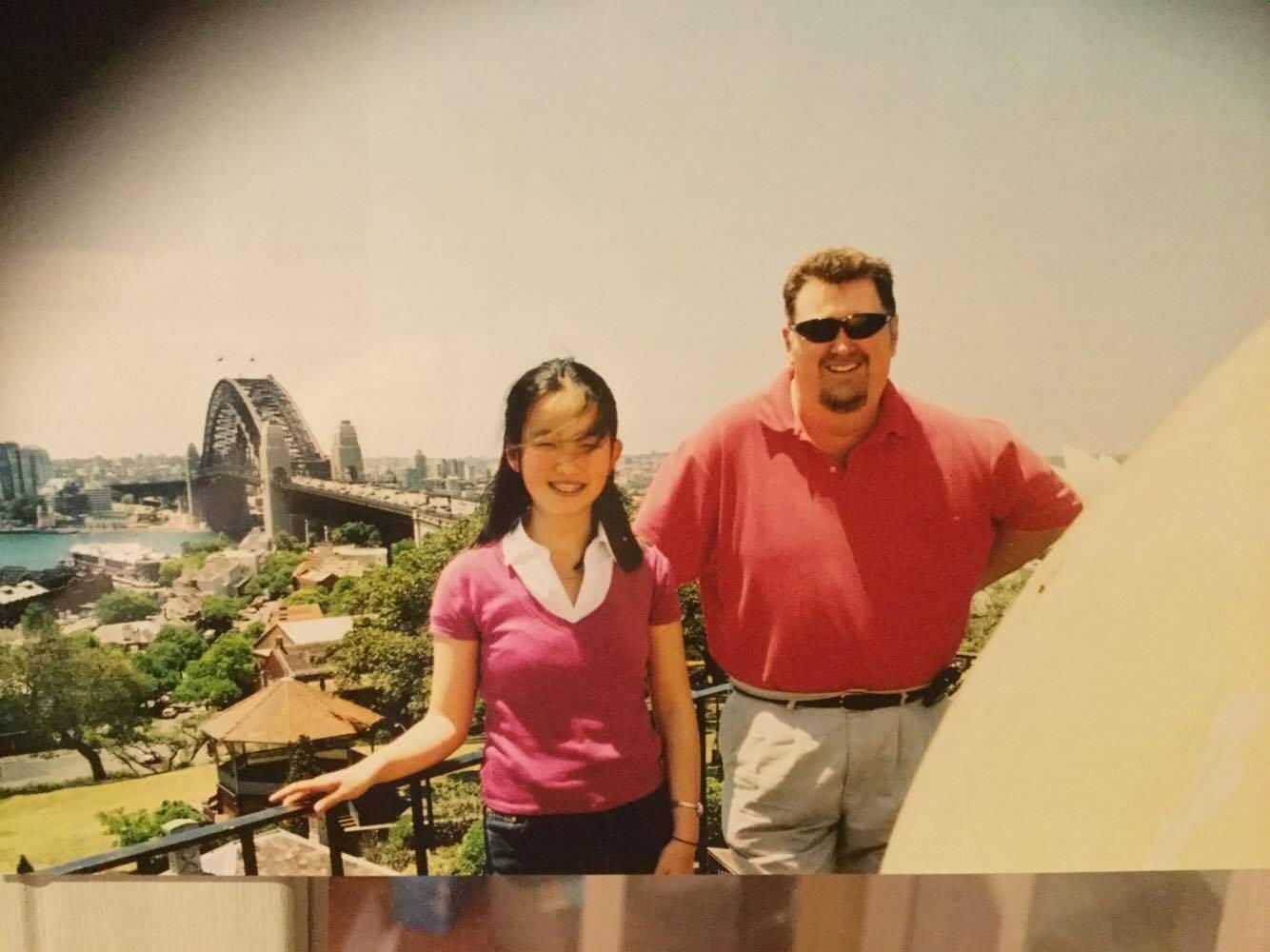 吴迪(左)和Geoff在悉尼天文台。