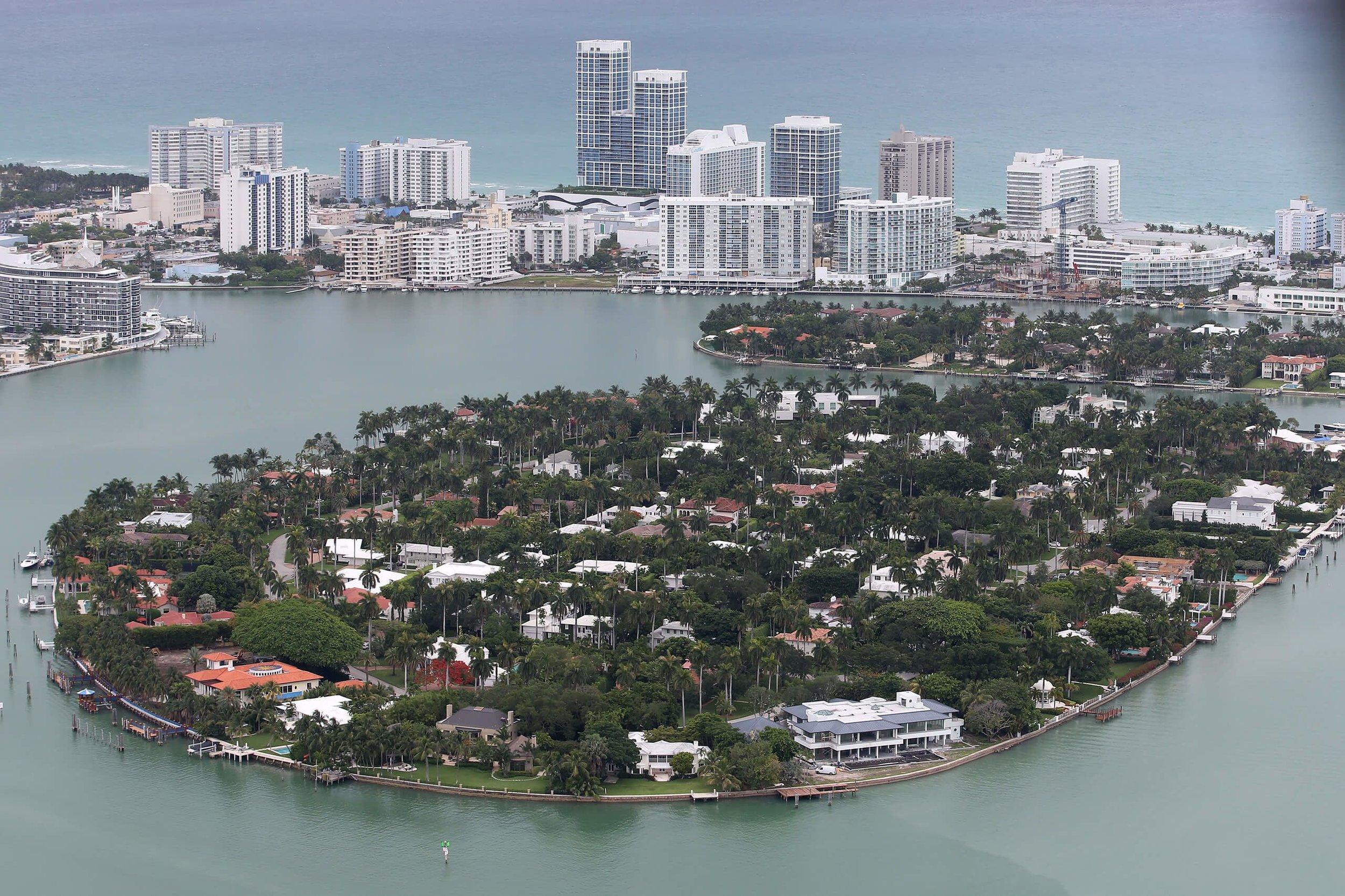 迈阿密和迈阿密临海地区。Photo: Joe Raedle/Getty