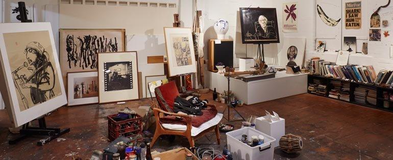 Brett Whiteley 工作室,图片来自官方博物馆。
