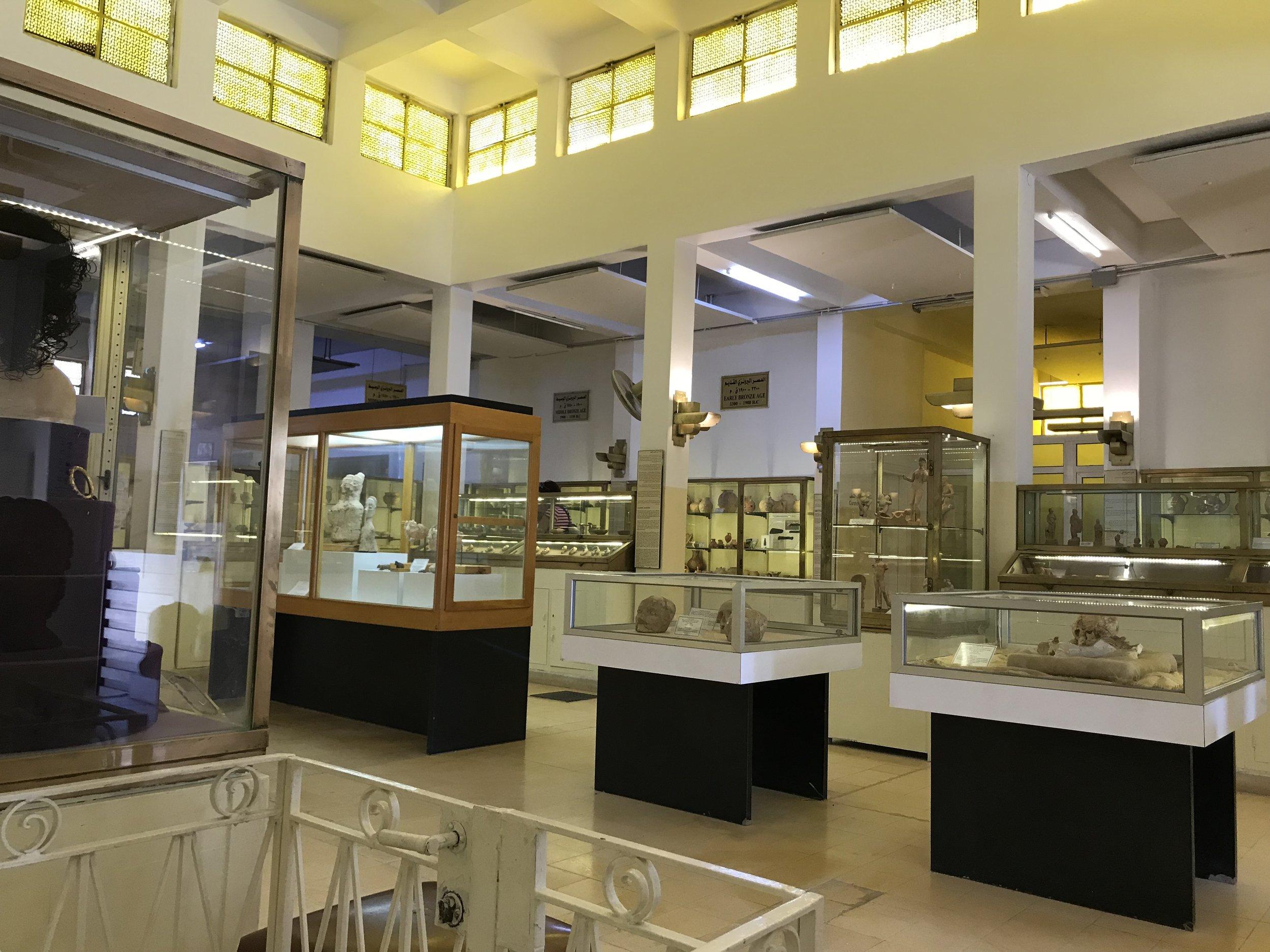 安曼城堡考古博物馆展厅。