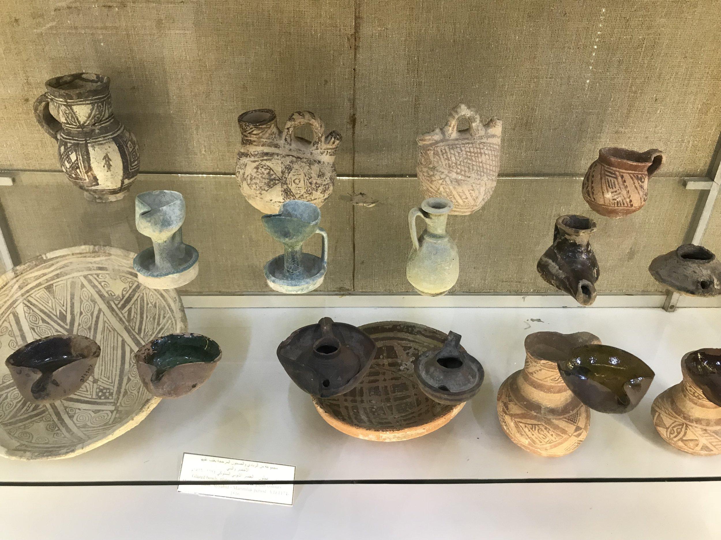 一千年多前阿拉伯地区居民使用的油灯。