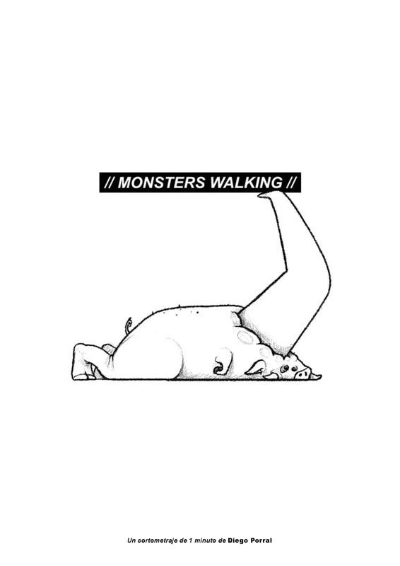 Monsters Walking     片长: 1:05 分钟   国家: 西班牙  导演:  Diego Porral
