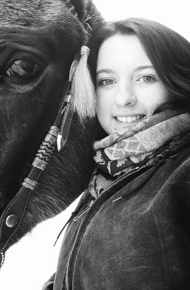 Kylynne Sheffield is pictured with a horse she used to own, a registered Quarter Horse mare named Simply Bar.(Crystal Joyce-Manning photo)