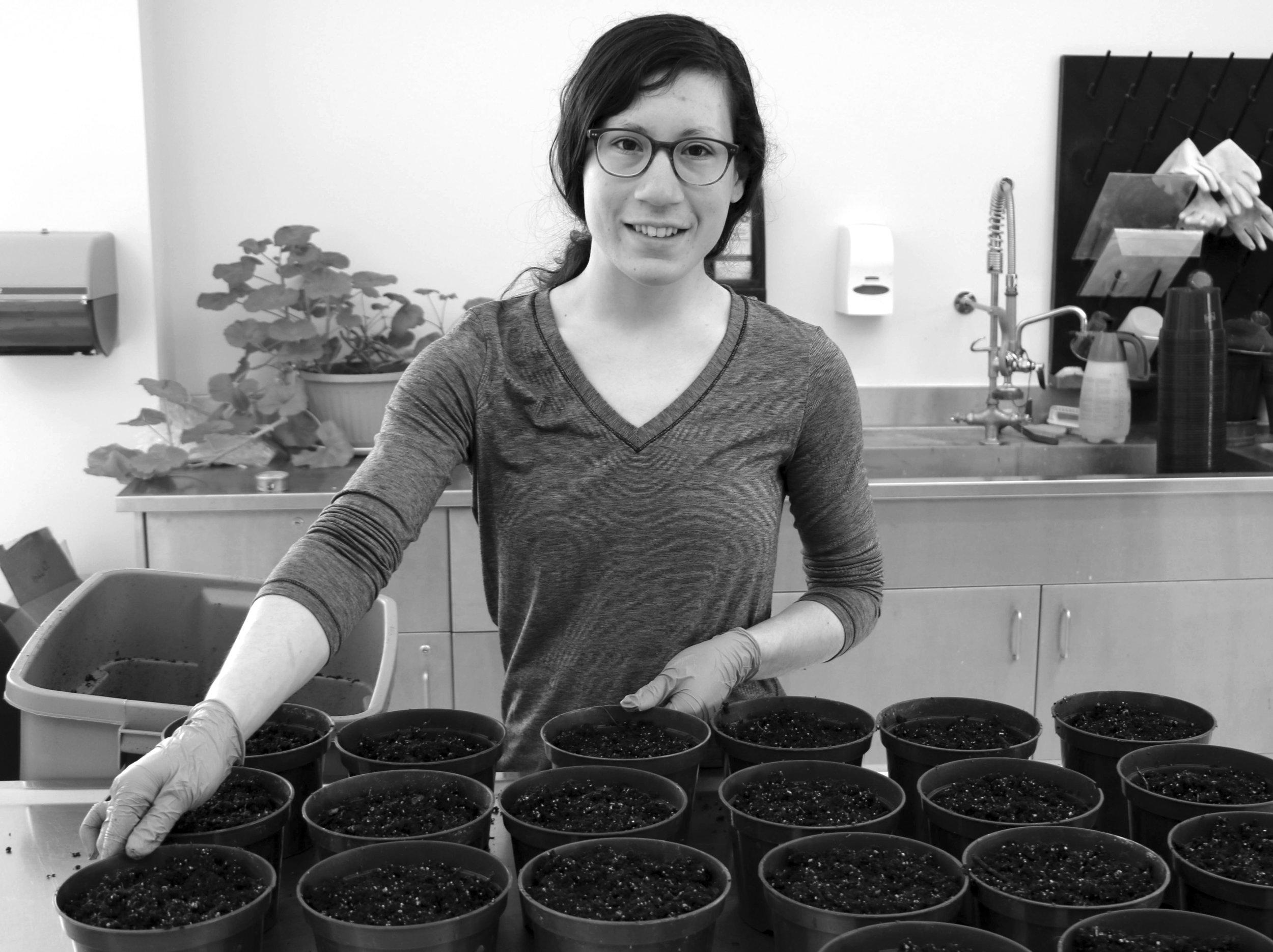 Adèle Bunbury-Blanchette busy in the lab. (David Kristie photo)