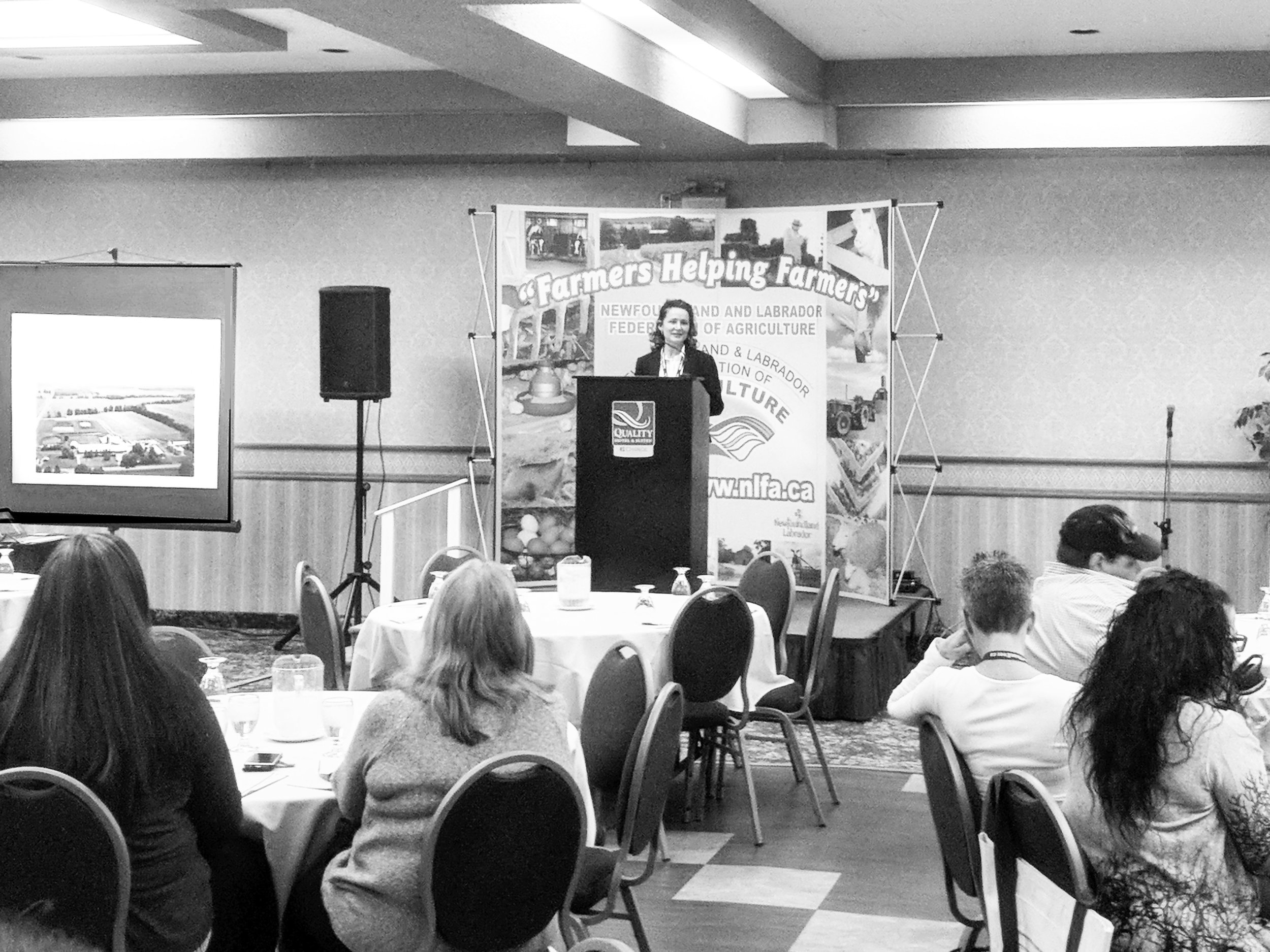 Jeannette Mongeon spoke about her diverse farming operation in Ontario at the NLFA's 43rd annual general meeting and workshop. (Submitted photo)