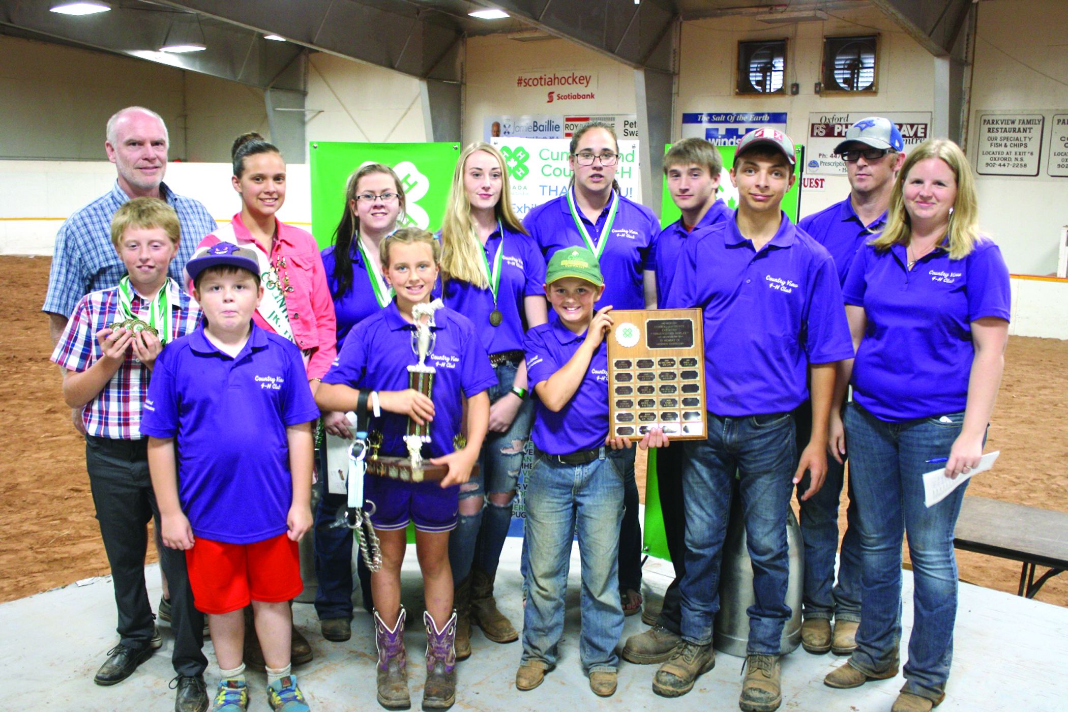 Country View 4-H Club members and leaders at the Cumberland County Exhibition. (Submitted photo)