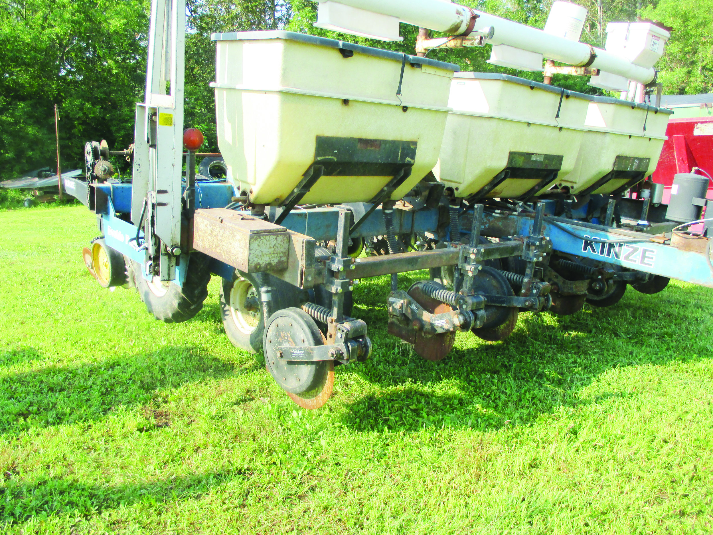 Miller Farms' corn planter was manufactured specially for no-till farming.