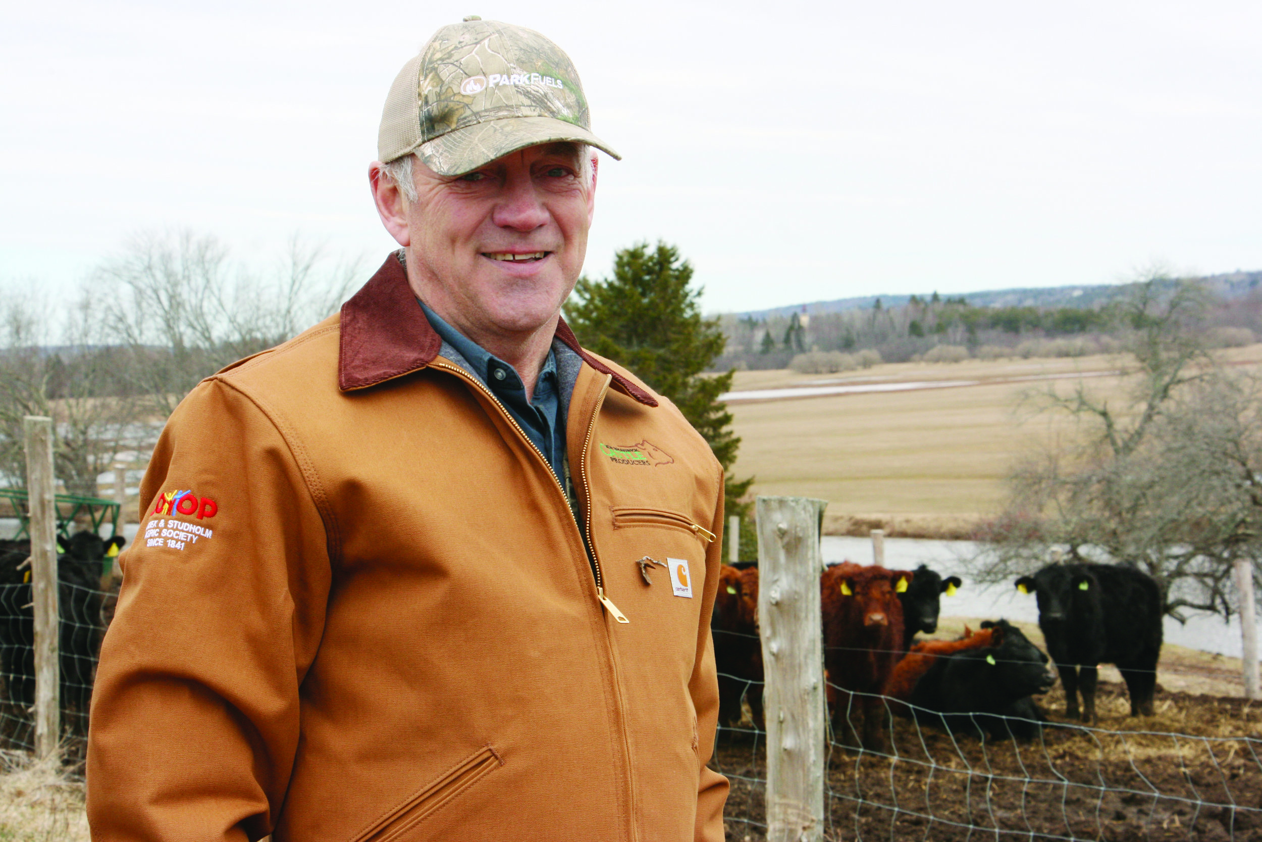 Don Bettle on his family's Point Farm on the outskirts of Hampton, N.B. (George Fullerton photos)