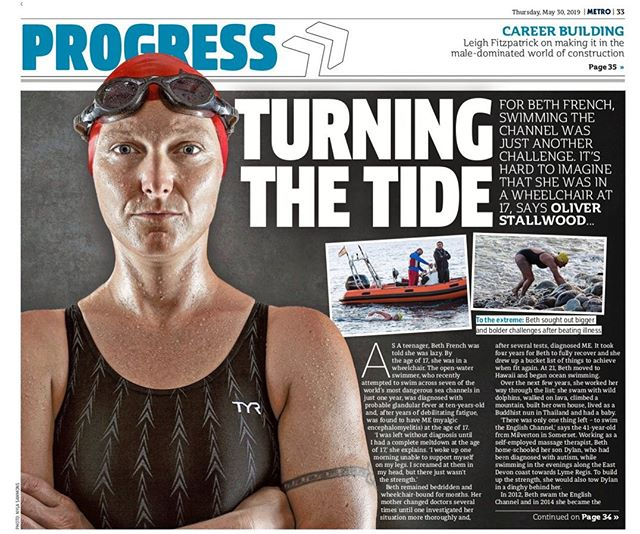 """The more you practise making dreams happen, the easier it gets"" – Beth French , The Metro  In time with our exciting Thames Swim Event in London today, read Beth French's uplifting and inspiring interview in the Metro  To buy tickets for the event (incl. screening + Q&A), click here bit.ly/ATTspecialevent (Link in Bio)"