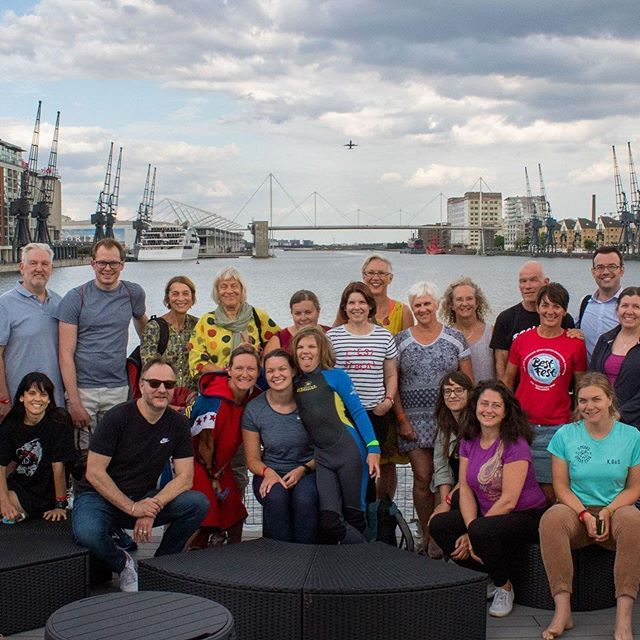 Still buzzing after Thursday's brilliant event combining a swim in the Thames (with @bethfrenchlives & Dylan), a screening of the film and a Q&A. Huge 'Thank you' to everybody who came; you're amazing! To Rick at @nowcauk for a grand job organising the swim at the beautiful @londonroyaldocksows , and to the great guys at @theoilerbar for hosting the screening in their cosy space below deck and for feeding everybody (great pizzas, Enzo!). An awesome evening!  Photo credit: @charliealexander.photos