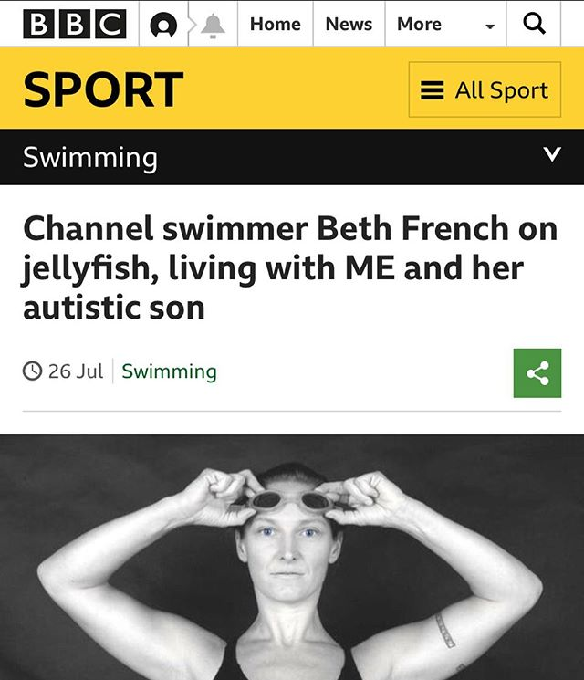 Great to see @bethfrenchlives on @bbcsport discussing her life, Oceans Seven and @againstthetidesfilm . Proud to be working with her!  @bbc if you want to show the film, get in touch 😉  Check out the article here: https://www.bbc.co.uk/sport/swimming/49083125