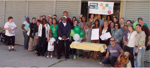 Photo: Co-op lease signing September 11, 2010