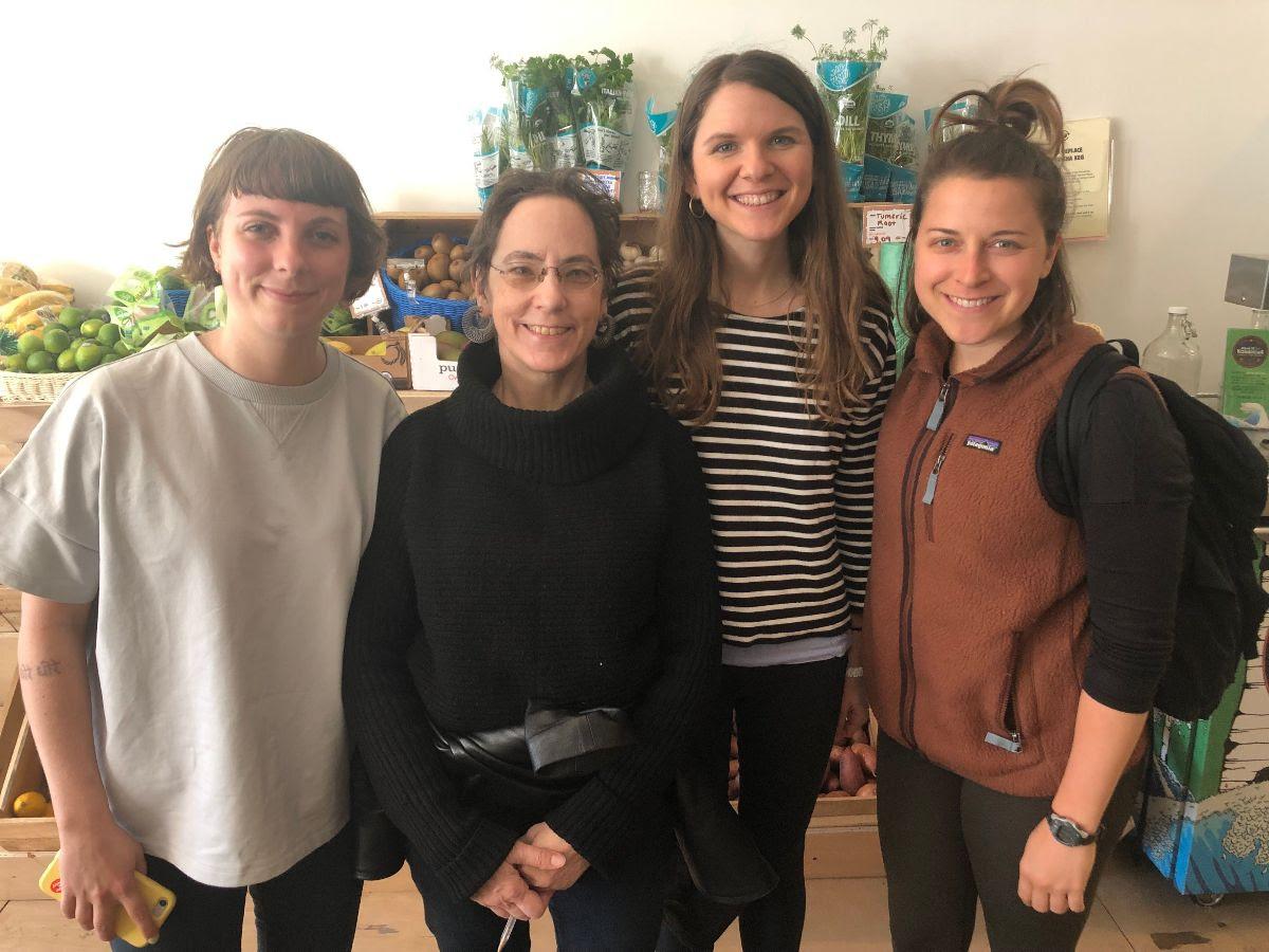 From left to right: Sophia Heij, Pam Turczyn, Aly Miller, Emily Nachazel.