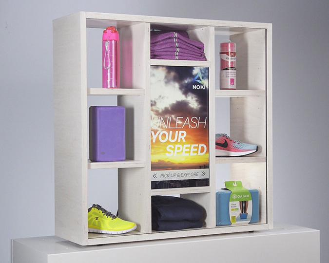 In Multi-shelving Displays -