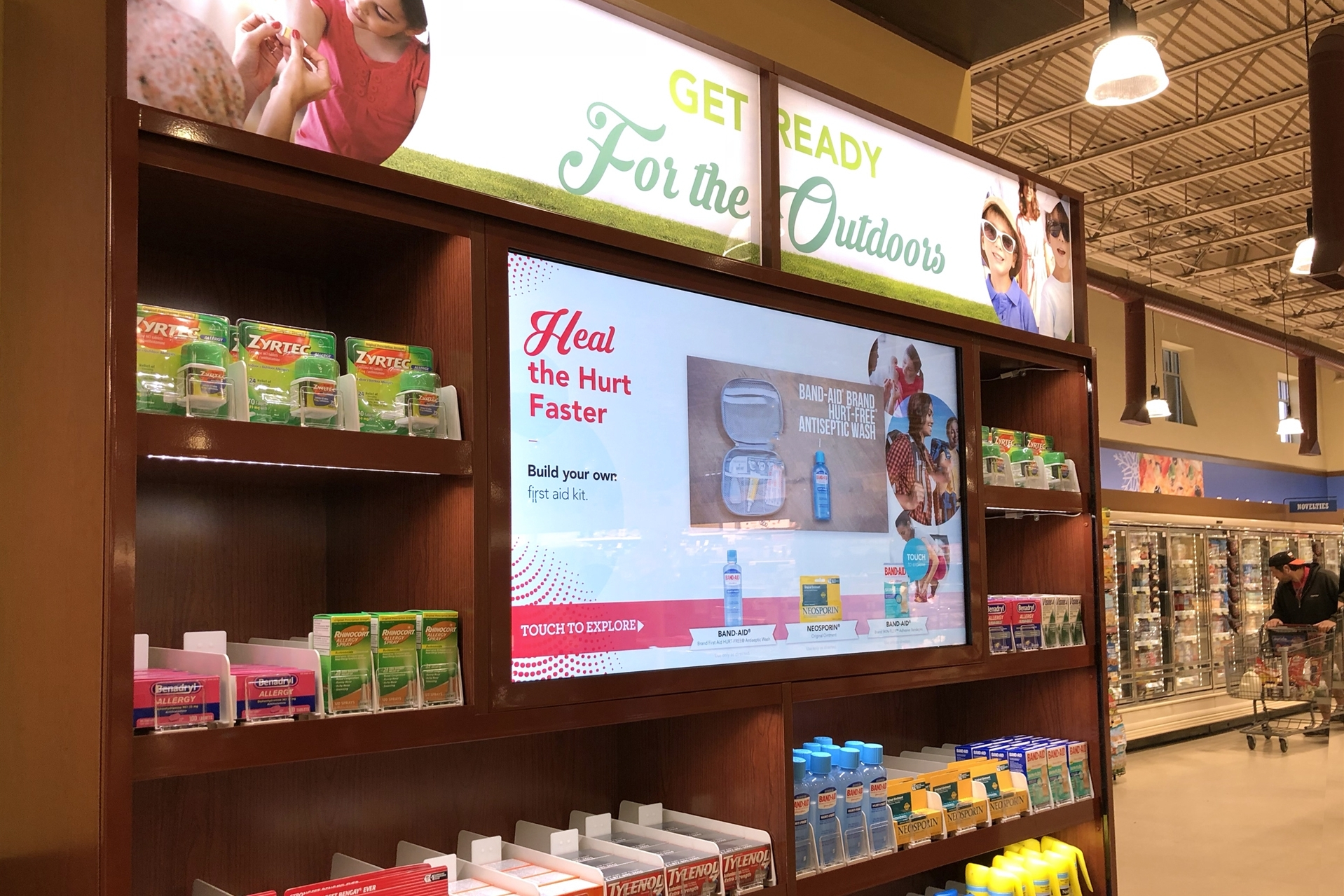 Johnson & Johnson - Interactive product shelf in Shoprite highlights 30 products across over 15 brands with videos, ratings and reviews and more.