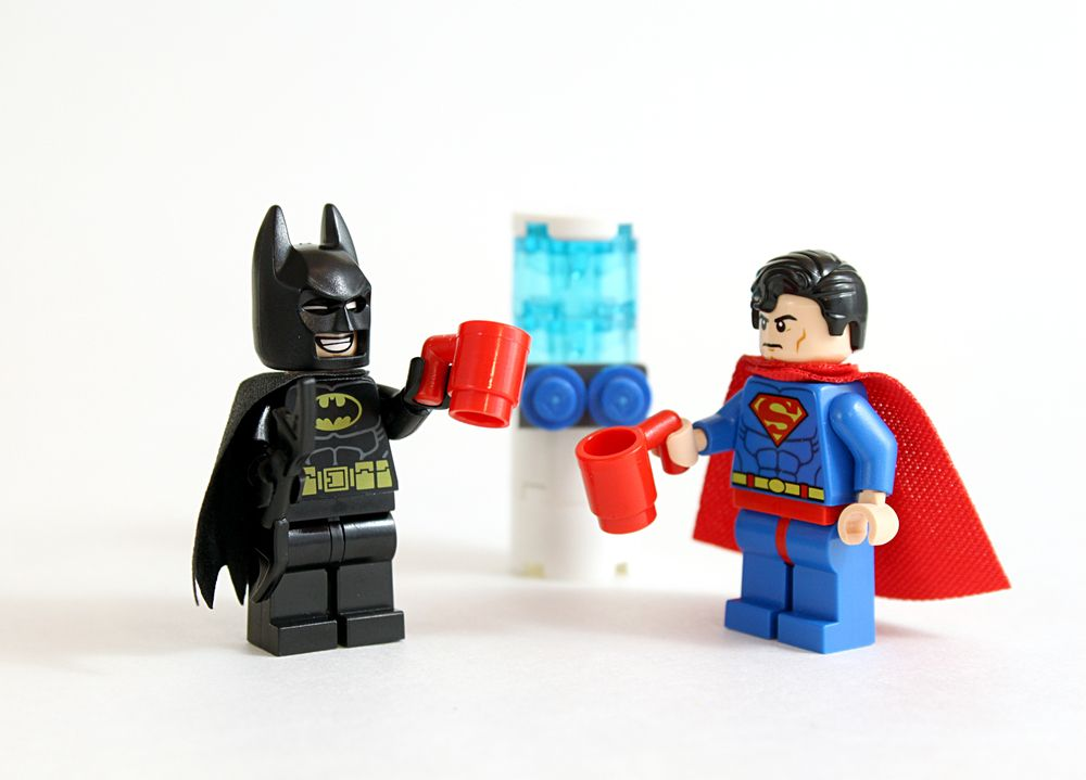 Perch_Batman and Superman_Water Cooler