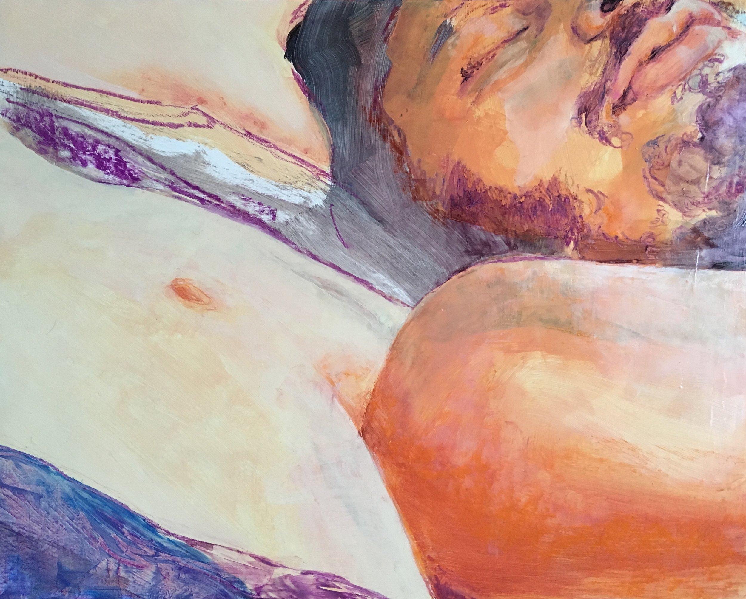 "Jutías (2018) Oil, Acrylic and Pastel on Panel, 16""x20"""