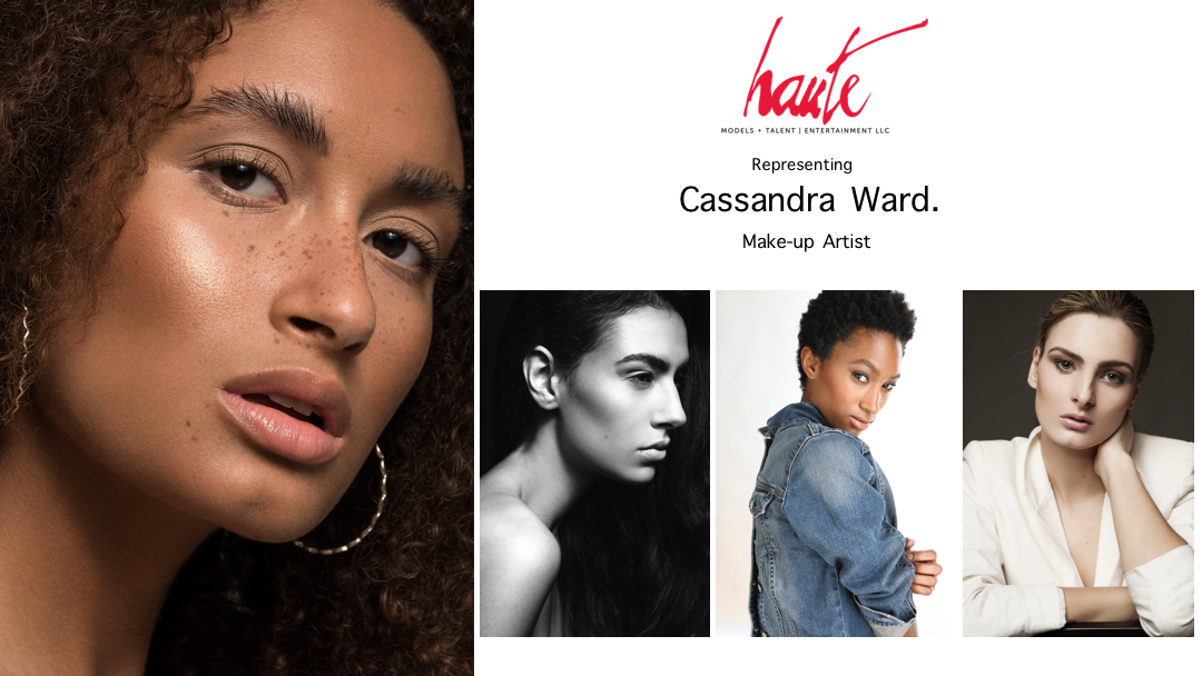 Known as an passionate makeup artist and hair stylist, Cassandra has an adoration for all things beauty. She is committed to using the latest technology in skin and hair care to exceed the expectations of her clients. She believes continued education plays an integral part in the success of a beauty artist. Cassandra pays close attention to the intricate details of a client's brand in order to create a unique and memorable experience, and brings a creative and positive attitude to every session.  Her journey as a makeup artist began in 2008, after completing training in Cosmetology . From beauty school, she studied in The Makeup Mastered program under the instruction of the world renowned makeup artist Val Garland. She continues to educate herself under highly seasoned professionals in the editorial, commercial, TV, and film industries. Cassandra has a strong support system by way of professional organization membership. She has active memberships with The Professional Beauty Association, The Powder Group, Crystal Wright (PYP), and Women in Cosmetics (CEW).