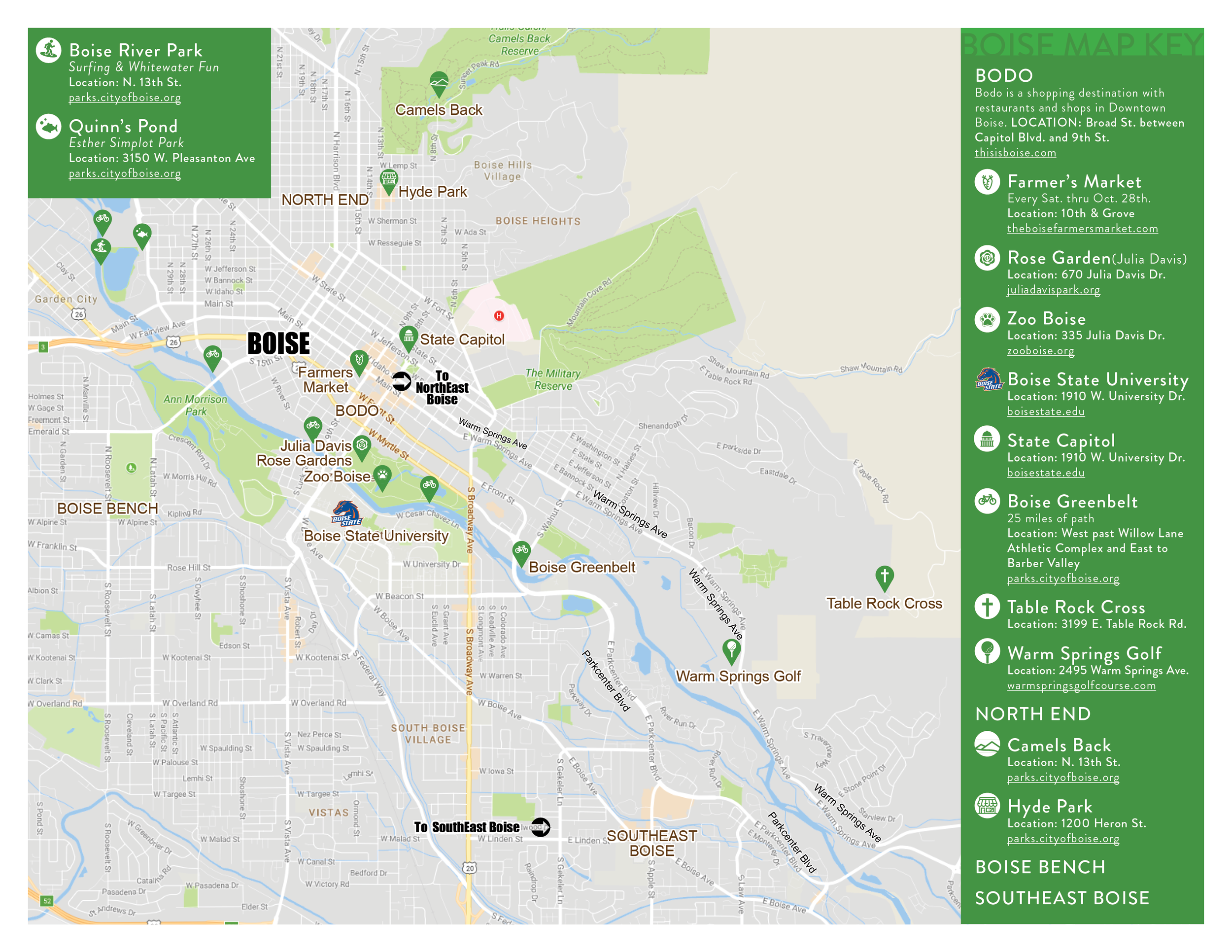 map of downtown boise idaho Boise Map Your Boise Relocation Guide map of downtown boise idaho