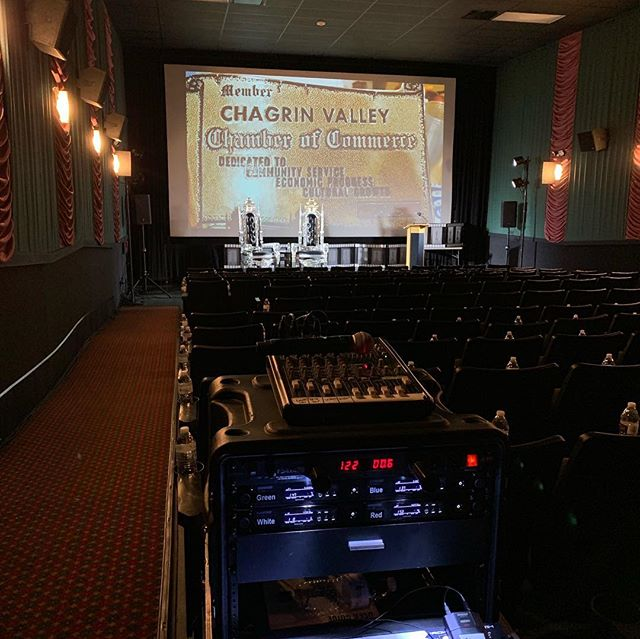 Last night we provide lighting, and audio for a live 1 on 1 interview with actor James Madio. James was the guest speaker for the Chagrin Valley Chamber of Commerce Awards Ceremony. Some of his movies include Band of Brothers, Basketball Diaries, Hook, and others.