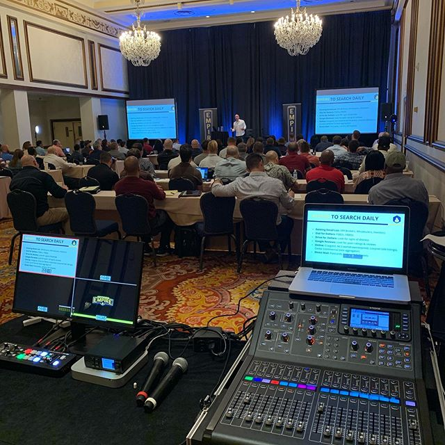 Today's office: Providing Audio & Video support for Commercial Empires week long conference @commercialempire