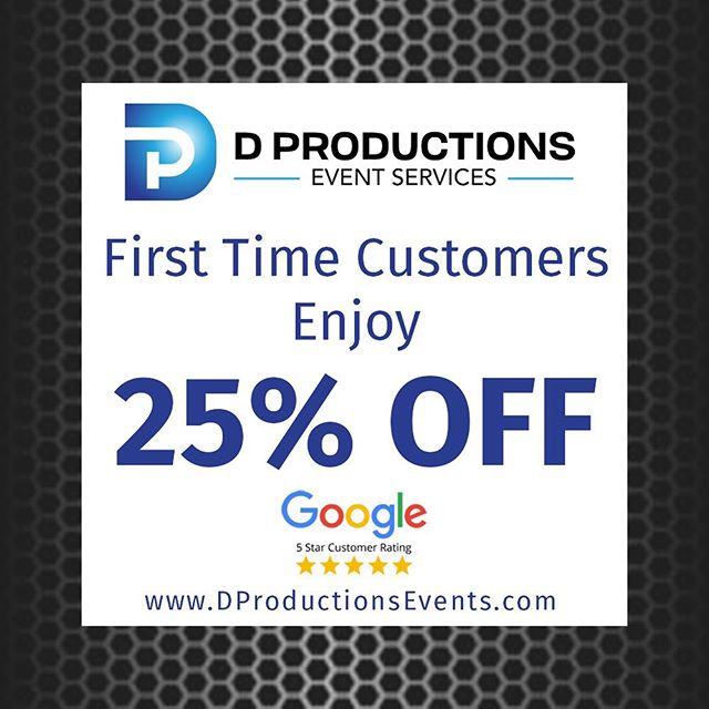 Planning an Event? Let us help! Dproductionsevents.com