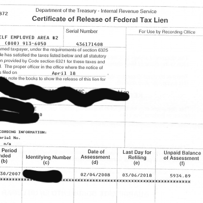 IRS Lien Removal -