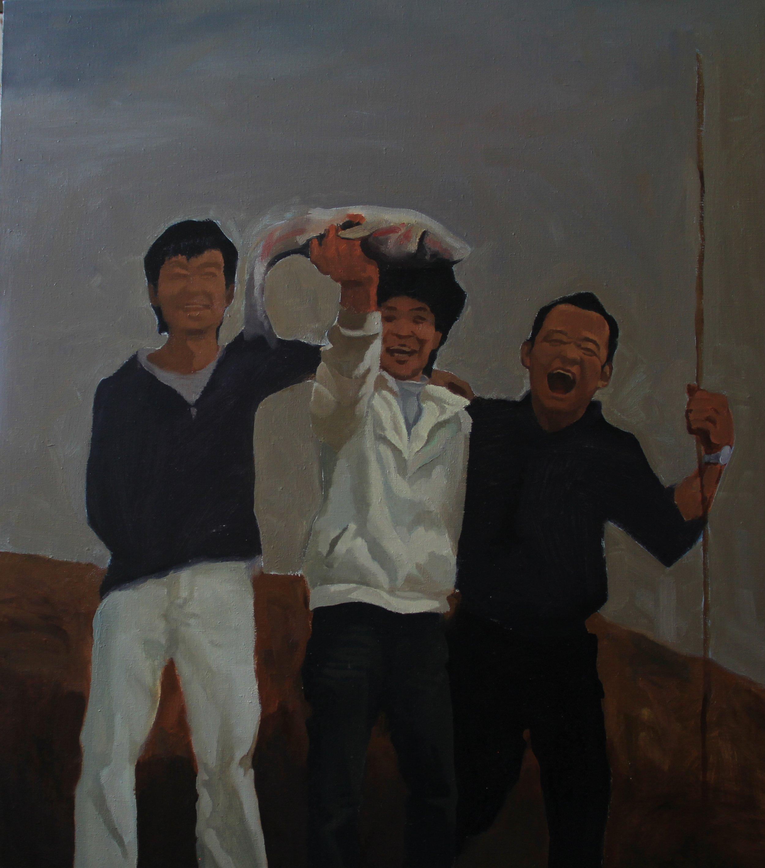 Big fish,2009 , 80cm x 80cm, Oil on canvas.jpg
