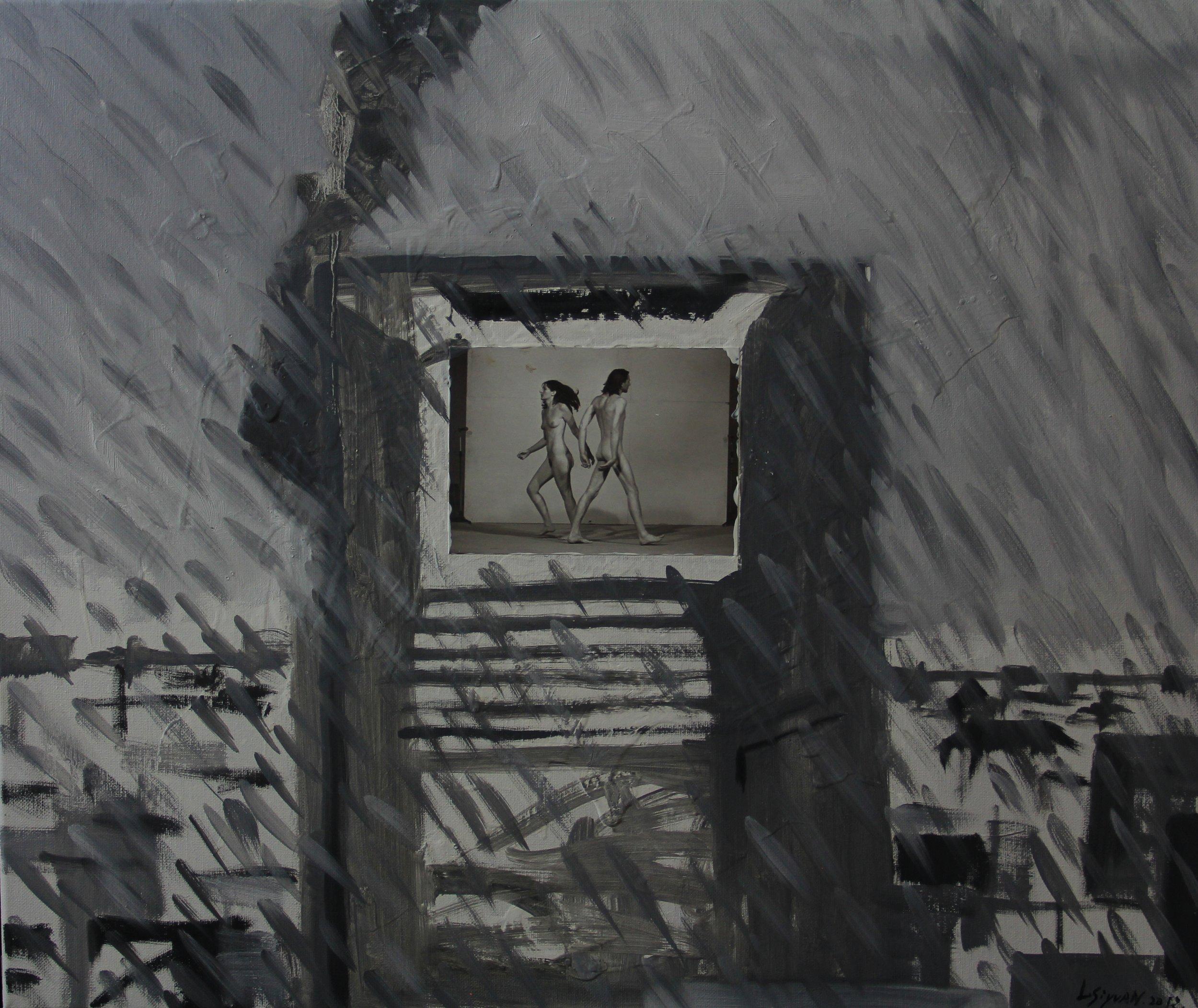 In the rain,2013 ,50cm x 60cm, Oil on canvas.jpg