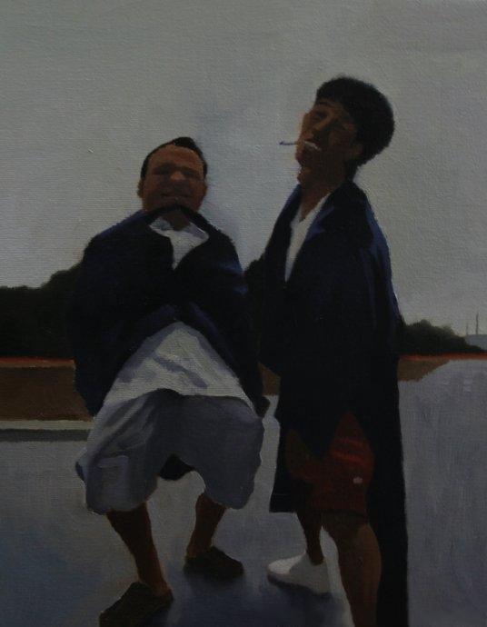 It rains or not?,2012, 24cm x 30cm , Oil on canvas.jpg