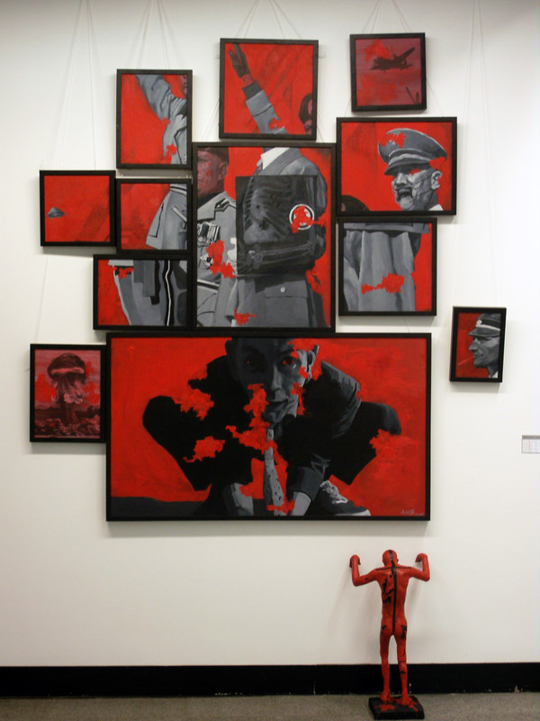 Parade,2011, 12 Oil paintings and one sculpture.jpg
