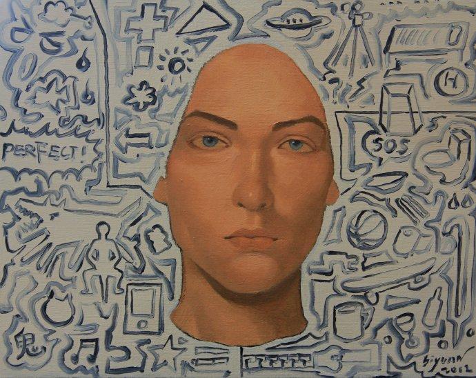 Portrait,2012, 24cm x 30cm, Oil on canvas.jpg