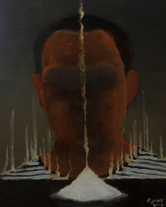 Slat,2012,24cm x 18cm, Oil on canvas.jpg