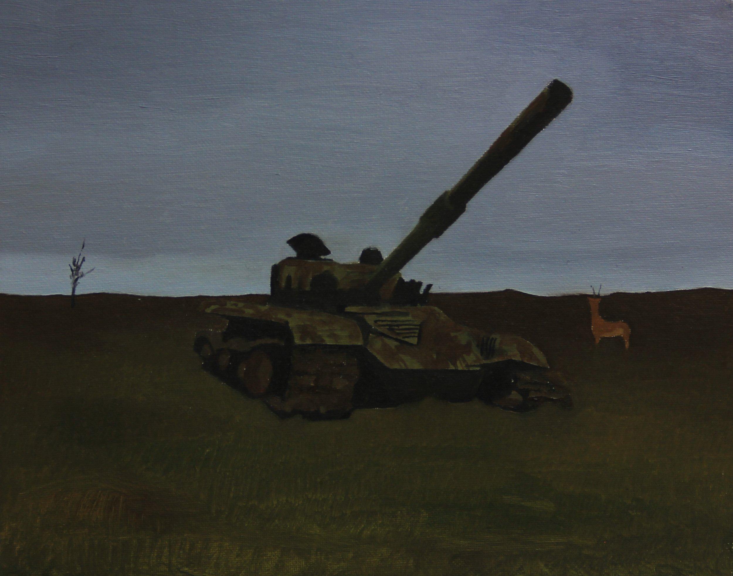 Tank, 2013 , 24cm x 30cm, Oil on canvas.jpg