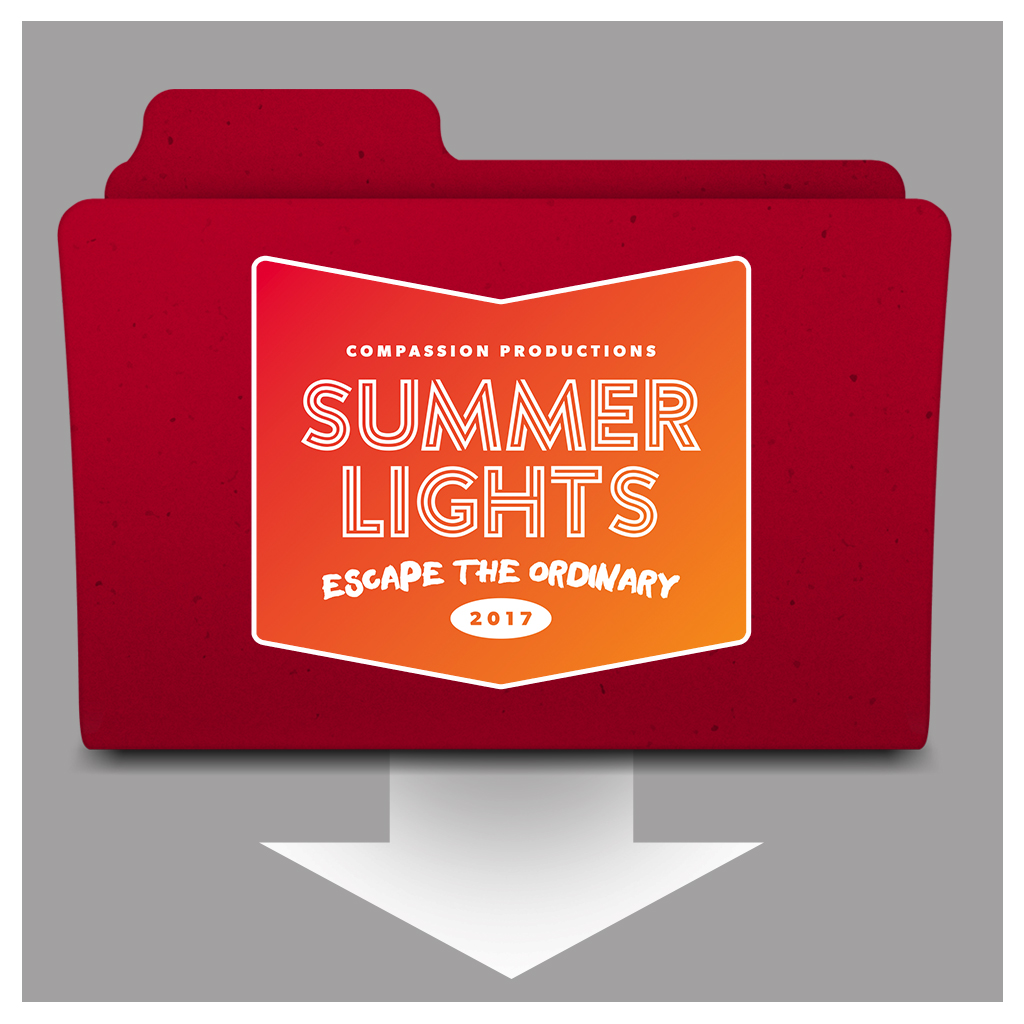 """Zipped """"Summer Lights"""" file contents:  •Trailer 1 (no live footage) •Trailer 2 (with live footage cut in) •Recap videos from several cities •Branded images from every city"""