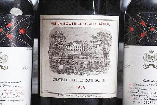 For investors who don't mind the risk, there's a chance for a 20 to 40 percent increase in value of #vintagewine after only one or two years. The fine wine secondary market hovers at about $5 billion, a fraction of the $302 billion global wine market. 📸🍷: Chateau Lafite 1959