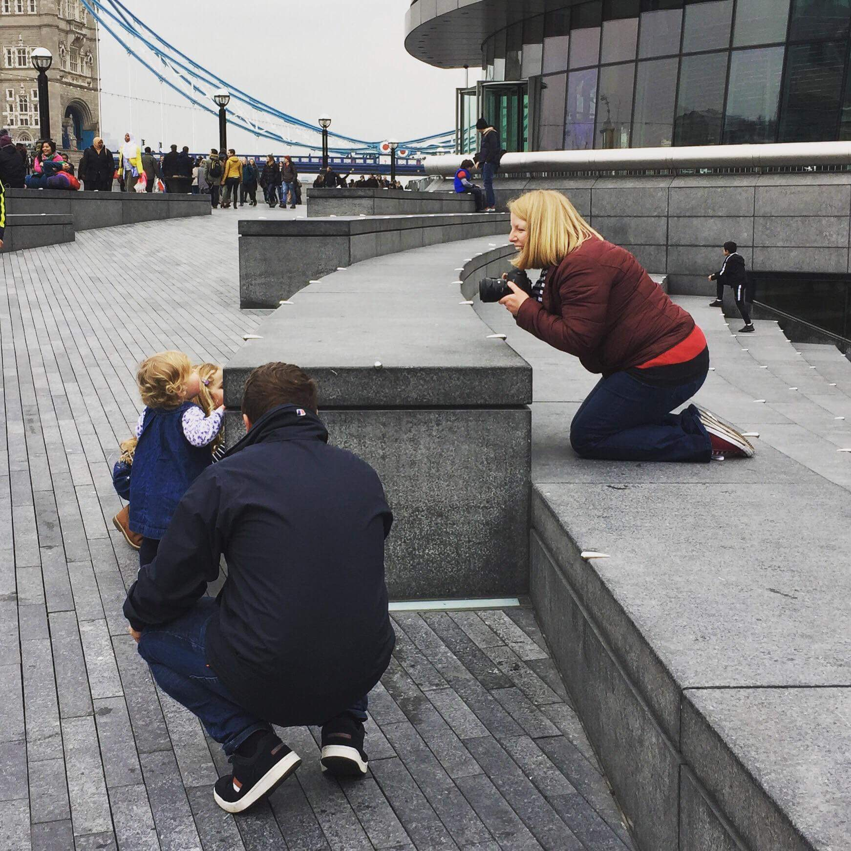 Kirsty Hamilton Photography in action Tower Bridge London