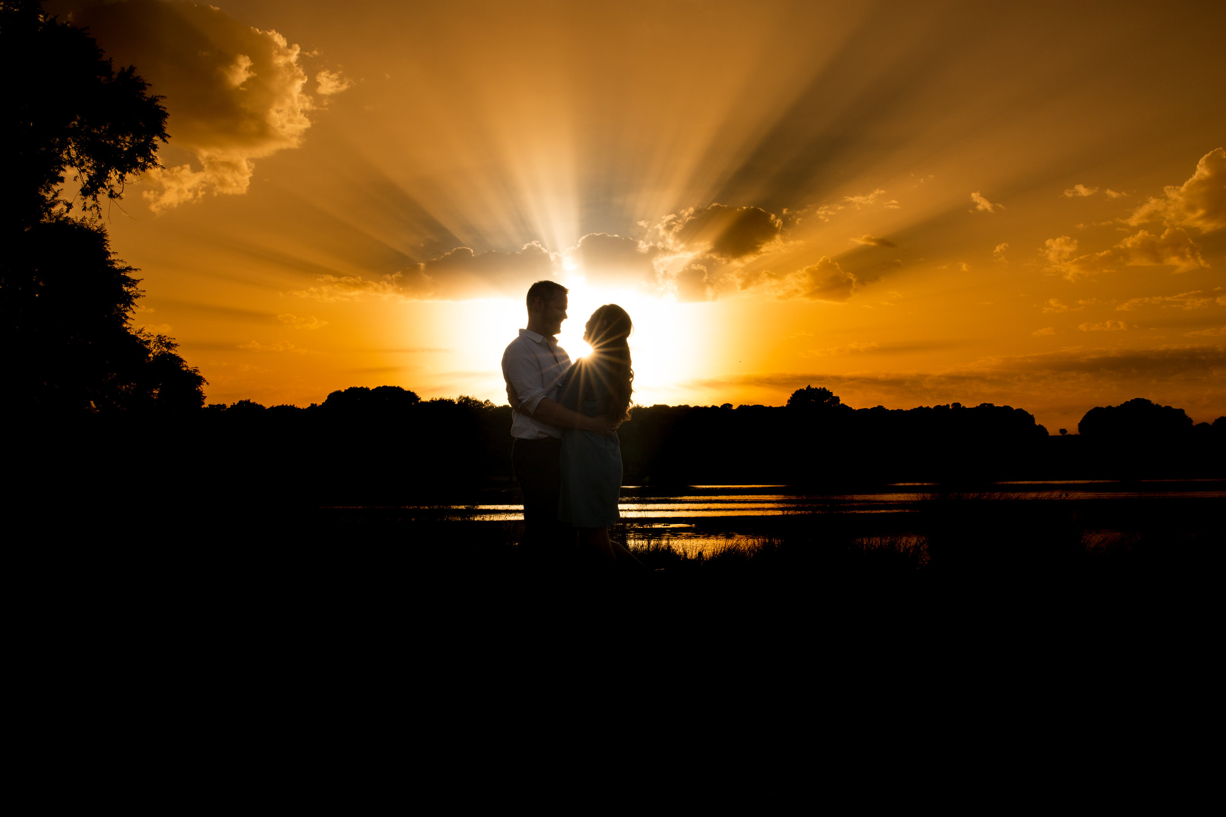 Engagement photoshoot at sunset